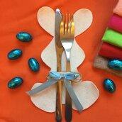 Portaposate segnaposto Coniglio di Pasqua