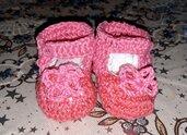 Scarpine neonata in filo mesi 1-3 subito disponibili