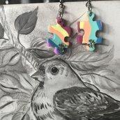 OrecchiniPendenti con  arcobaleno