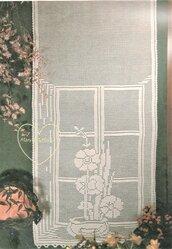 Schema PDF - Tende filet a uncinetto - decorazioni per la casa -