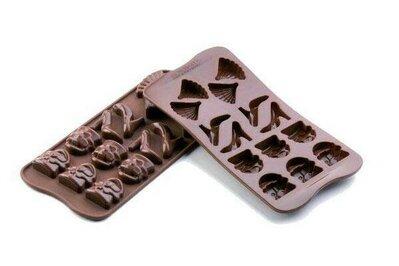 Stampo in silicone tema Moda (4 scarpe, 6 borse, 4 ventagli)
