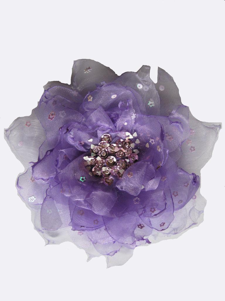 Fiore in organza lilla