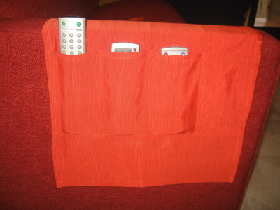 Porta telecomandi in stoffa