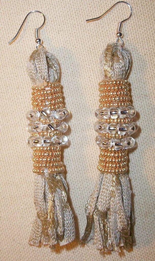 orecchini bianco/oro