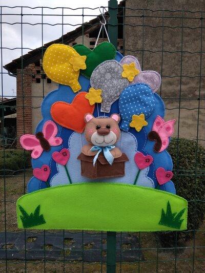 Fiocco nascita...un orsetto in una scatola