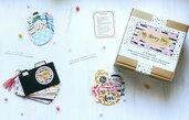 Happy Box_ MY HAPPY DAY_ Kit creativo fai da te per bambine per realizzare un mini album foto