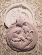 Stampo pallina medaglione con presepe cm. 11x10