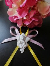 Orsetto con stellina segnaposto gesso ceramico  profumato nuovo modello