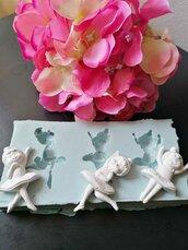 Multistampo Stampo tema danza con ballerine gomma siliconica
