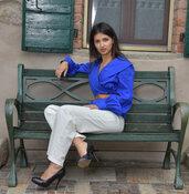 Vivinaturale pantalone bianco taglia 42-44 cotone biologico