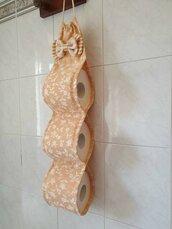 Porta rotoli Carta igienica shabby chic color  senape