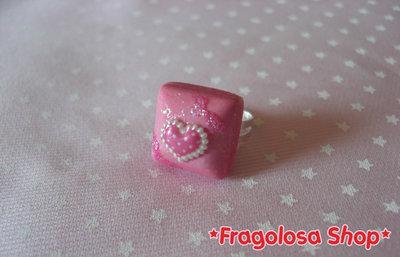 Anello rosa con cuoricino