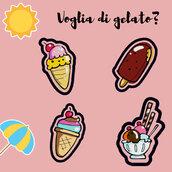Set ricamo gelati, Patches da ricamare PES, VP3 JEF, VIP, HUS, XXX, Vp4, VIP, DST.