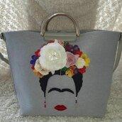 borsa di feltro Frida Kahlo