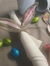 Portatovagliolo in stoffa Coniglietto di Pasqua