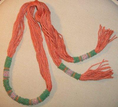 collana sciarpina arancio/verde