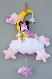 Fiocco nascita Minnie sognatrice,  54 x 34 cm