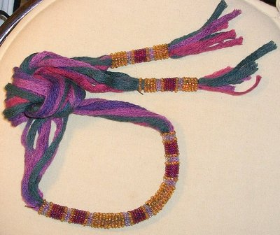 collana sciarpina verde scuro/viola
