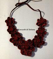 Collana kanzashi con fiori 4.7