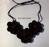 Collana kanzashi con fiori 5.0