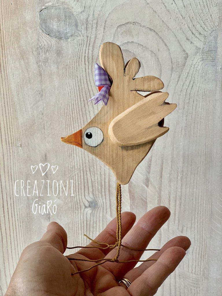 Uccellini in legno