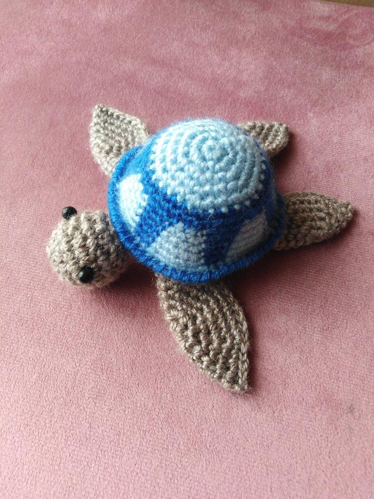 Tartaruga marina amigurumi