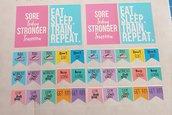 "Stickers motivazionali ""Fitness"""