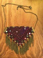 collana tradizionale , collana etnica turchese , gioielli etnici originali