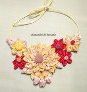 Collana kanzashi con fiori 5.8