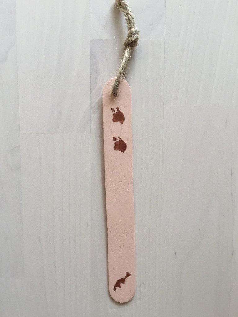 Segnalibro in legno gatto