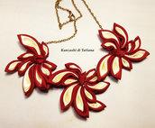 Collana kanzashi con fiori 5.7