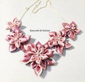 Collana kanzashi con fiori 5.4