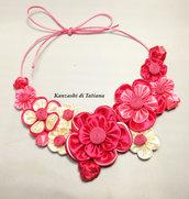 Collana kanzashi con fiori 5.3
