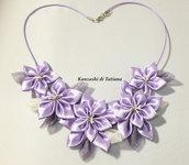 Collana kanzashi con fiori 5.2