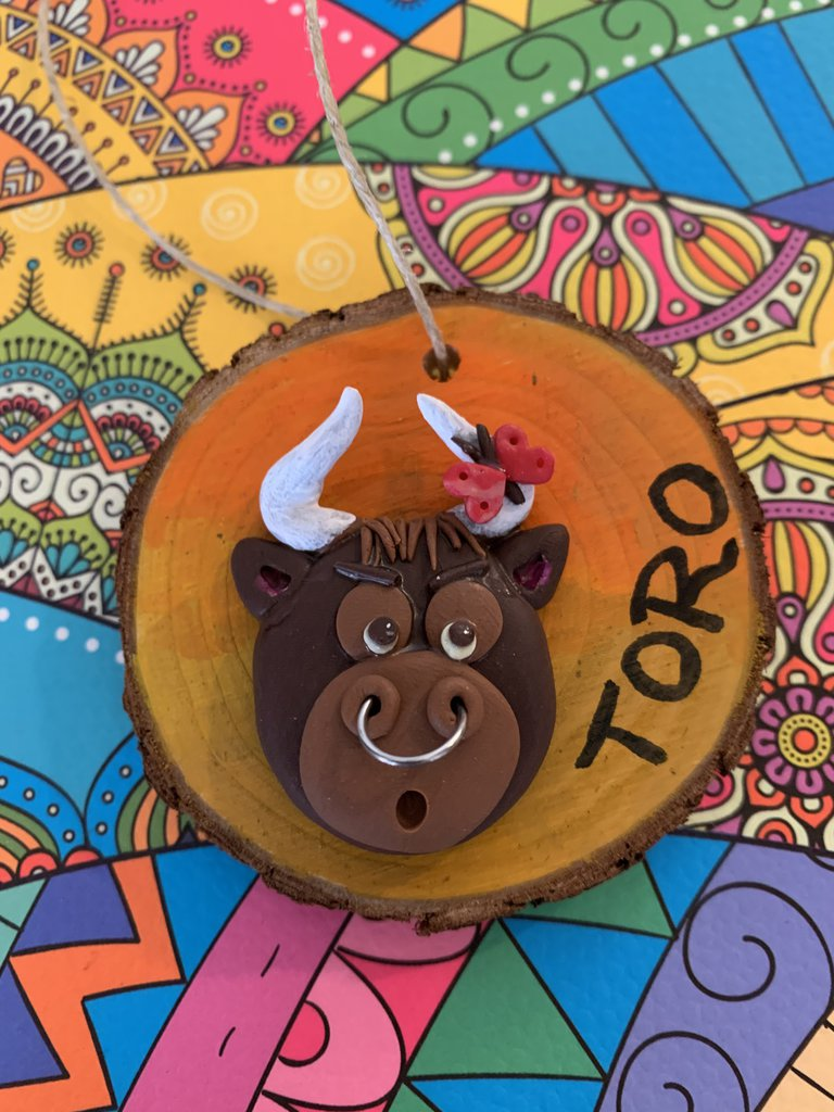 Decorazione segno zodiacale toro