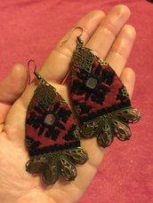 orecchini etnici online , gioielli fatti a mano , orecchini tradizionali