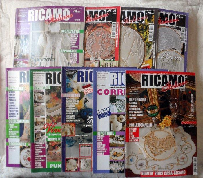 9 RIVISTE RICAMO ITALIANO