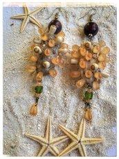 Orecchini in legno di mare