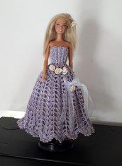 Barbie vestita da sera.