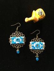 orecchini etnici online , gioielli fatti a mano