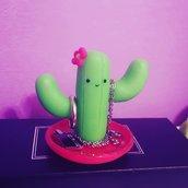 Portagioielli cactus, porta anelli, portagioie, bracciali, collane, anelli. Realizzato a mano.