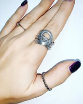 Anello in Wire Battuto