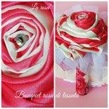 Bouquet  di  raso rosa gigante