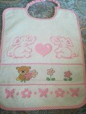 Bavaglino rosa orsetta