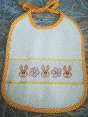 Bavaglino per neonato coniglietti