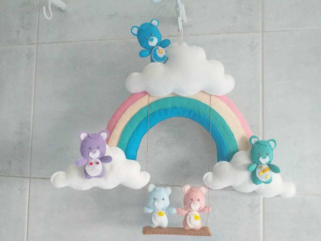 Fiocco Nascita Arcobaleno.Fiocco Di Nascita Con Arcobaleno E Orsetti Bambini Nascita Di Su Misshobby