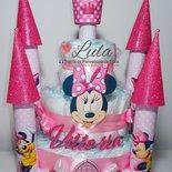 Torta di Pannolini Pampers Castello Minnie idea regalo originale e utile nascita battesimo baby shower