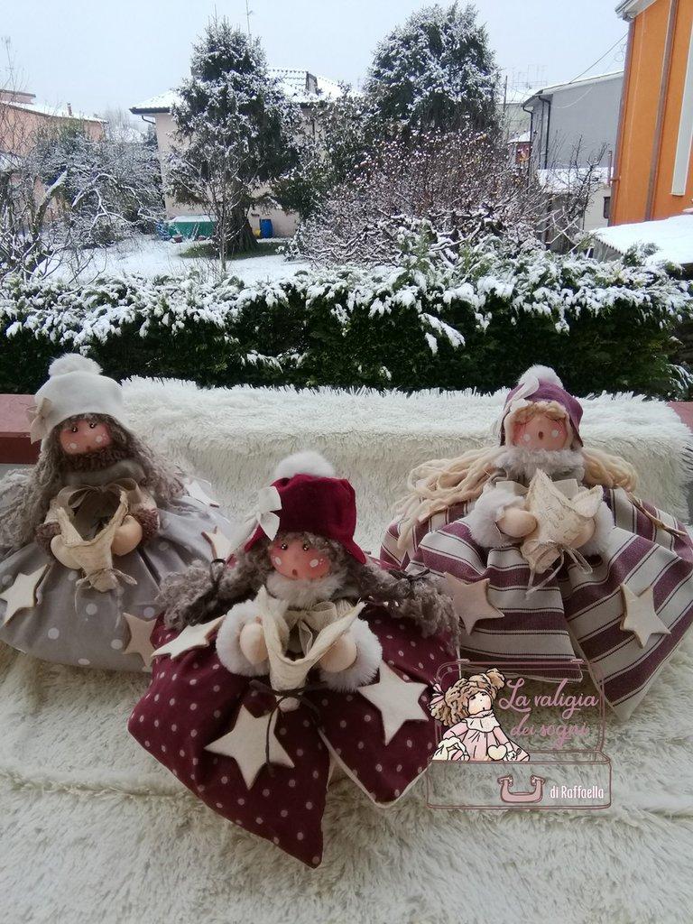 fermaporta bambolina realizzato a mano