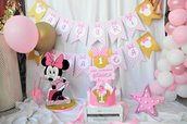 Kit festa a tema Minnie gold