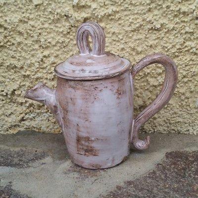 Contenitore in ceramica anticata